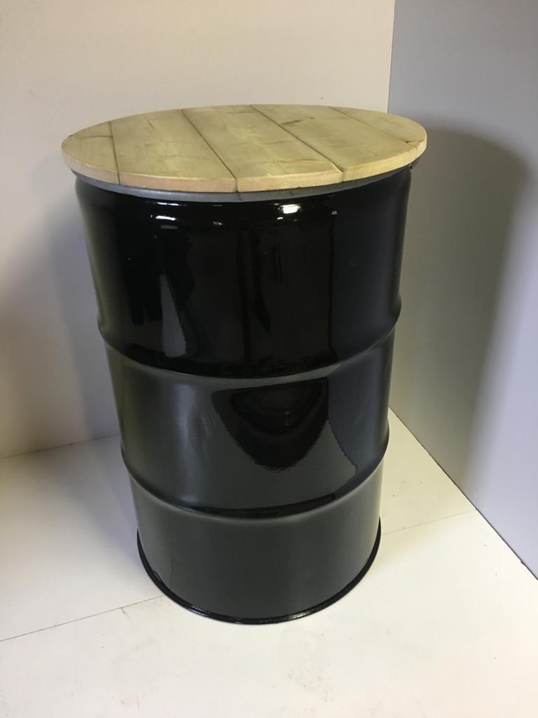 Olievat Statafel Zwart